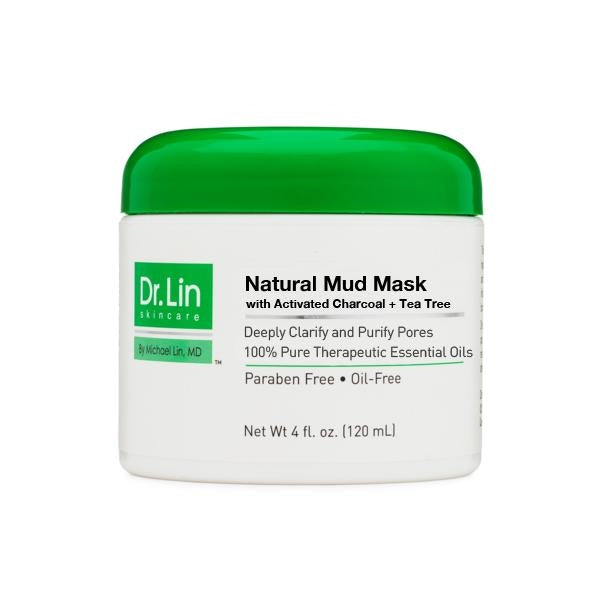 Natural Mud Mask with Activated Charcoal and Tea Tree Oil