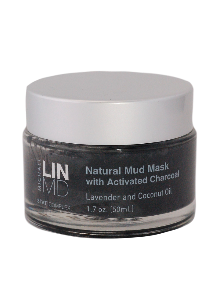 Michael Lin, MD Natural Mud Mask with Activated Charcoal, Lavender and Coconut Oil