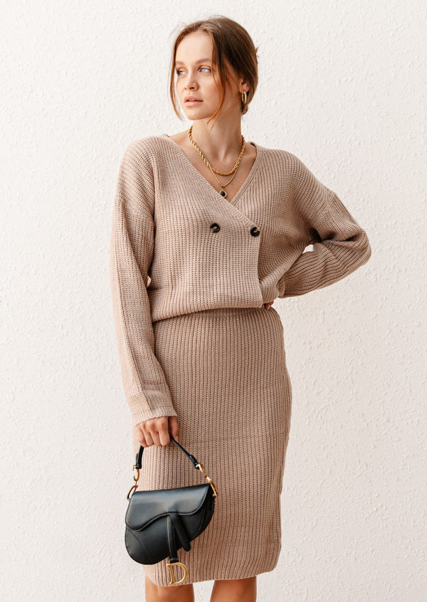 STELLA CAMEL KNITTED CO-ORD
