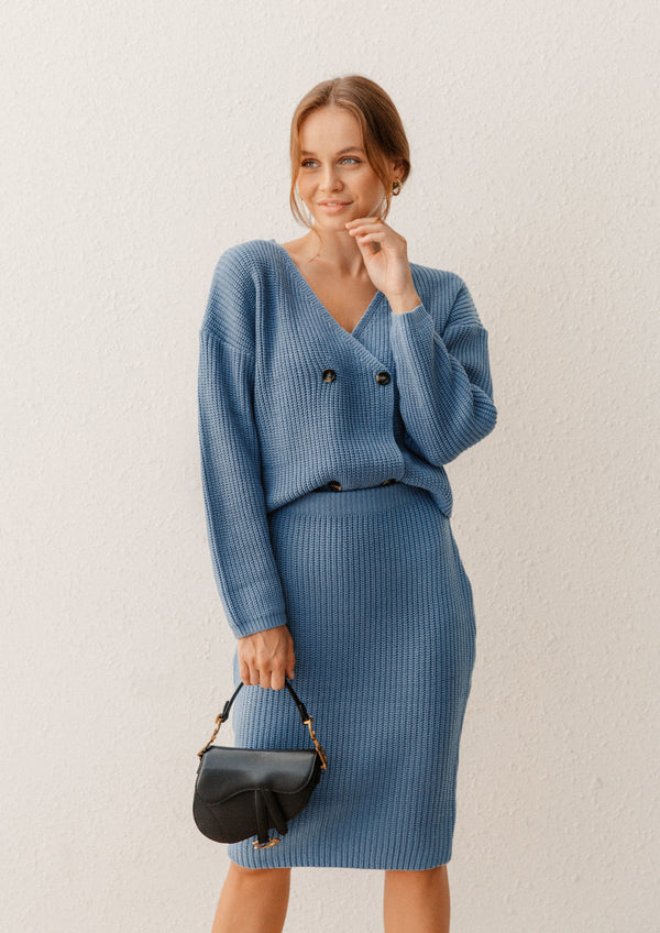 STELLA BLUE KNITTED CO-ORD