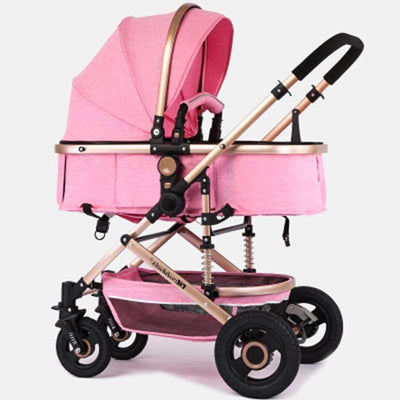 Pink stroller for baby girl bassinet stroller