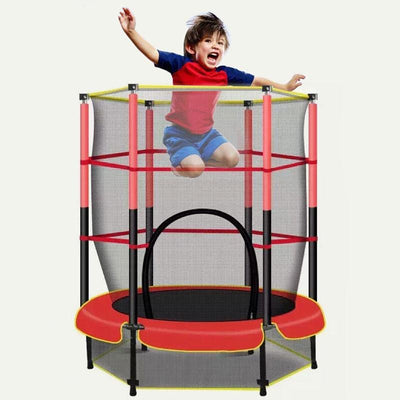 "55"" Kids Mini Indoor Outdoor Trampoline With Enclosure"