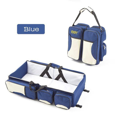 3-in-1 Universal Baby Bag backpack- blue