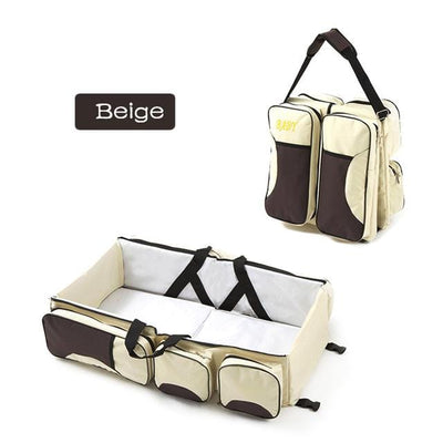 3-in-1 Universal Baby Travel Bag- beige