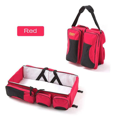 3-in-1 Baby Kids Travel Bags-red