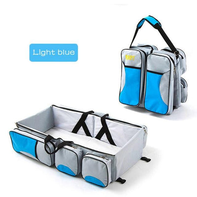 baby travel handbags for boy- light blue