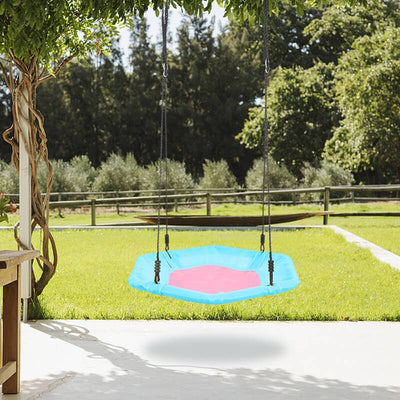 40 Inch Flying Saucer Swing Outdoor Kid Swing for Tree