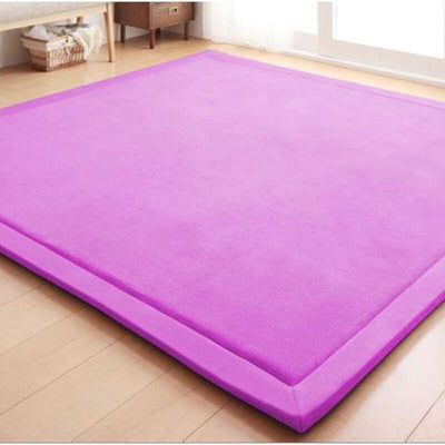 Newbabywish Baby Soft Play Mat Fleece Baby Crawling Mat