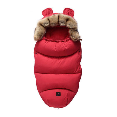 Baby Footmuff kids sleeping bag red