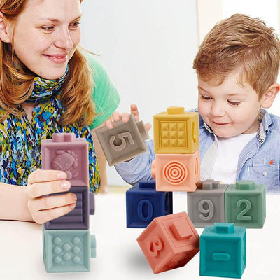 Baby Blocks for Baby Shower Soft Building Blocks