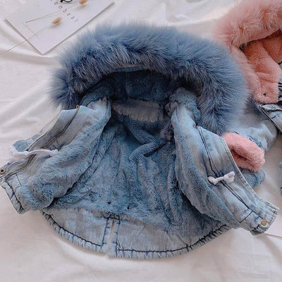 Newborn Clothes Baby Girl Oversized Denim Jacket