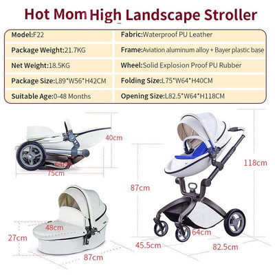 Hot Mom Baby Bassinet Stroller Best Stroller for Newborns and Toddlers
