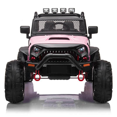 Kids Jeep Toy Car Powered Remote Control Ride On 2 Seater Car
