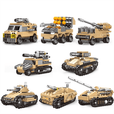 Military Tank Building Blocks for Kids with Original Box