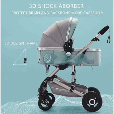 Infant Buggy 3 in 1 Travel Systems-2
