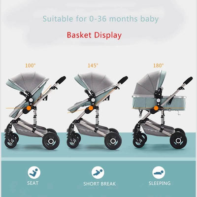 3 In 1 Stroller Combo With Baby Carrier Travel System Pram