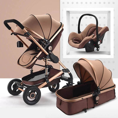 travel system for boy-khaki
