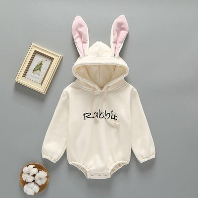 Rabbit Hooded Jumpsuit Romper Newborn Winter Clothes