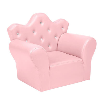 Princess Kid Sofa with PVC Leather Mini Couch for Kids