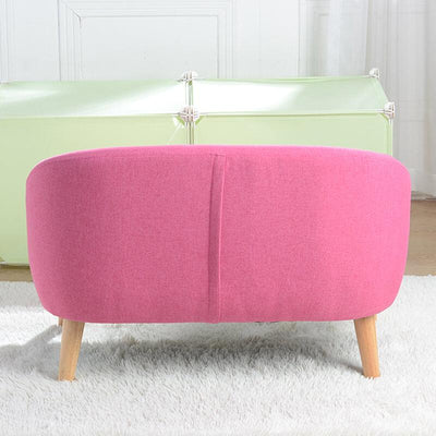 Removable Two Seat Kids Couch Sofa Pink Sleeper Sofa