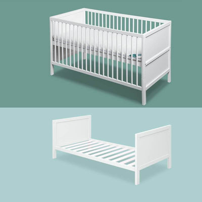 White 4 in 1 Convertible Crib