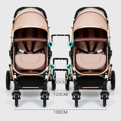 Double Stroller For Infant And Toddler Bassinet Strollers