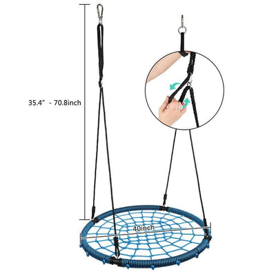 "Durable 40""  Kids Tree Swing Kit Spider Web Swing Set with Saucer"