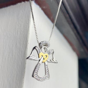 """Angel"" Engraved Pendant Necklace BeStrong"
