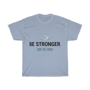 """Be Stronger than the Storm"" Tee T-Shirt Printify Light Blue S"