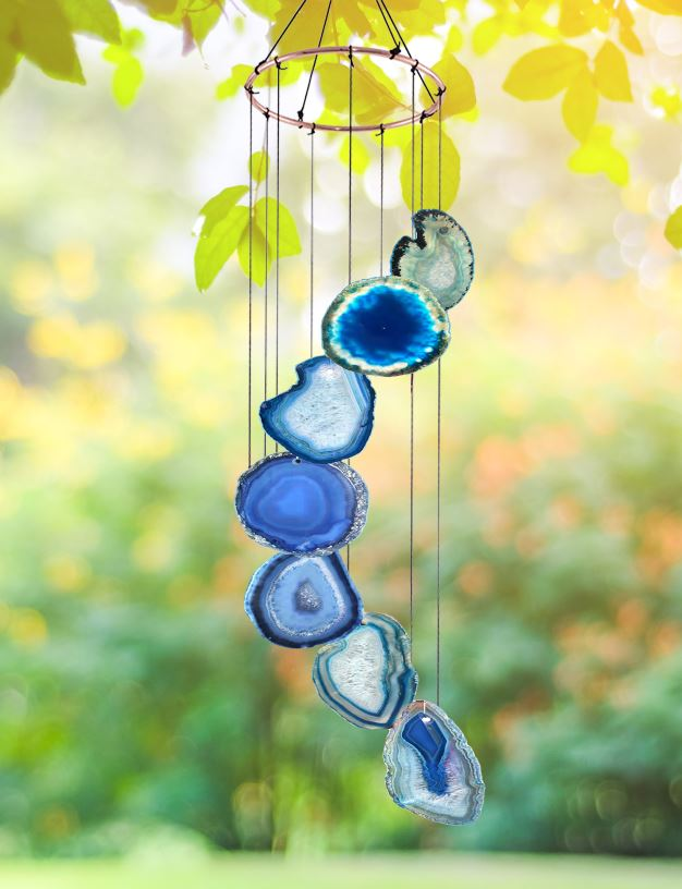 Blue Agate Wind Chime wind chime Be Strong