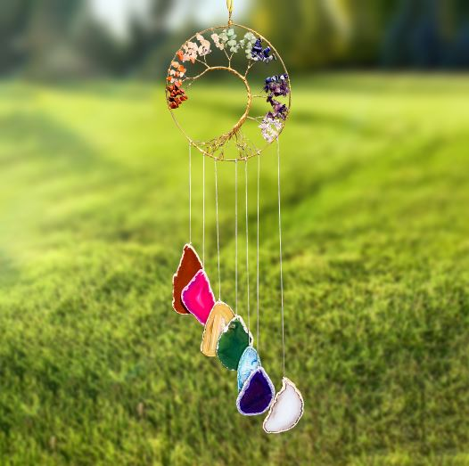 Chakra Tree Of Life Wind Chime wind chime Be Strong
