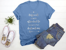 "Load image into Gallery viewer, ""Difficult Roads"" Tee T-Shirt Printify Light Blue S"