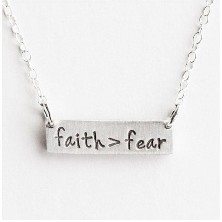 Faith Over Fear Necklace BeStrong