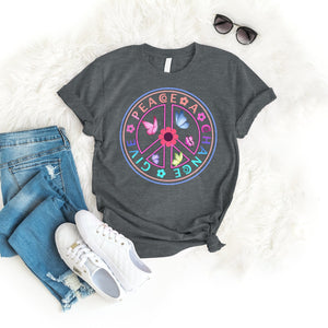 Give peace a chance Tee T-Shirt Printify Dark Heather S