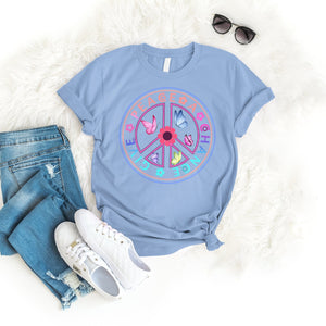 Give peace a chance Tee T-Shirt Printify Light Blue S