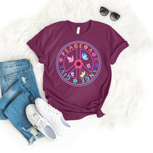 Load image into Gallery viewer, Give peace a chance Tee T-Shirt Printify Maroon S