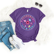 Load image into Gallery viewer, Give peace a chance Tee T-Shirt Printify Purple S