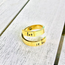 "Load image into Gallery viewer, ""Let It Be"" Gold Tone Ring BeStrong"