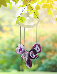 Moon & Star Agate Wind Chime wind chime Be Strong