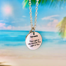 "Load image into Gallery viewer, ""Namaste"" Coin Pendant Necklace BeStrong"