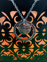 "Load image into Gallery viewer, ""Never Give Up"" Circle Necklace BeStrong"