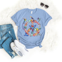 Load image into Gallery viewer, Peace Bird Tee T-Shirt Printify Light Blue S