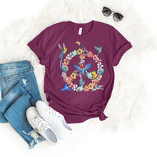 Load image into Gallery viewer, Peace Bird Tee T-Shirt Printify Maroon S