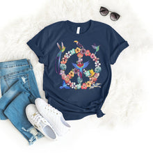 Load image into Gallery viewer, Peace Bird Tee T-Shirt Printify Navy S