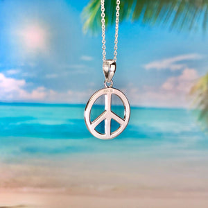 """Peace"" Circle Necklace BeStrong"