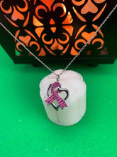"Load image into Gallery viewer, ""Pink Ribbon"" Necklace BeStrong"