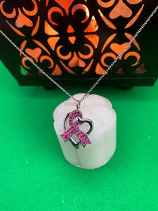 """Pink Ribbon"" Necklace BeStrong"