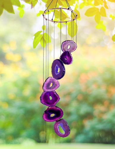Purple Agate Wind Chime wind chime Be Strong