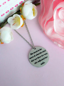 """She Stood In The Storm"" Coin Pendant Necklace BeStrong"