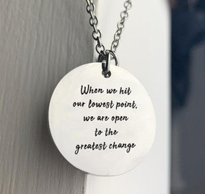 """The Greatest Change"" Coin Pendant Necklace BeStrong"
